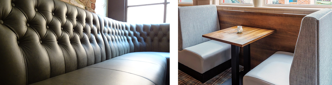 Curved Banquette Seating and Booth Seating