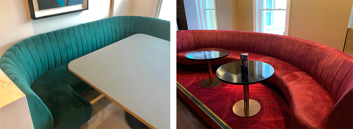 Slash Fluted Banquette Seating