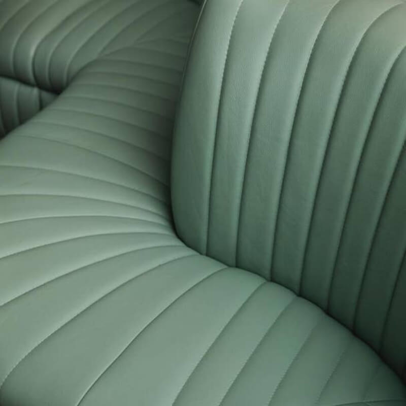 Flute Back Curved Banquette Seating
