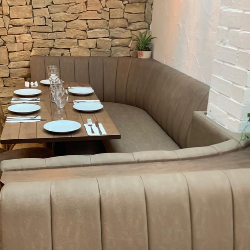 Bespoke Curved Booth Seating