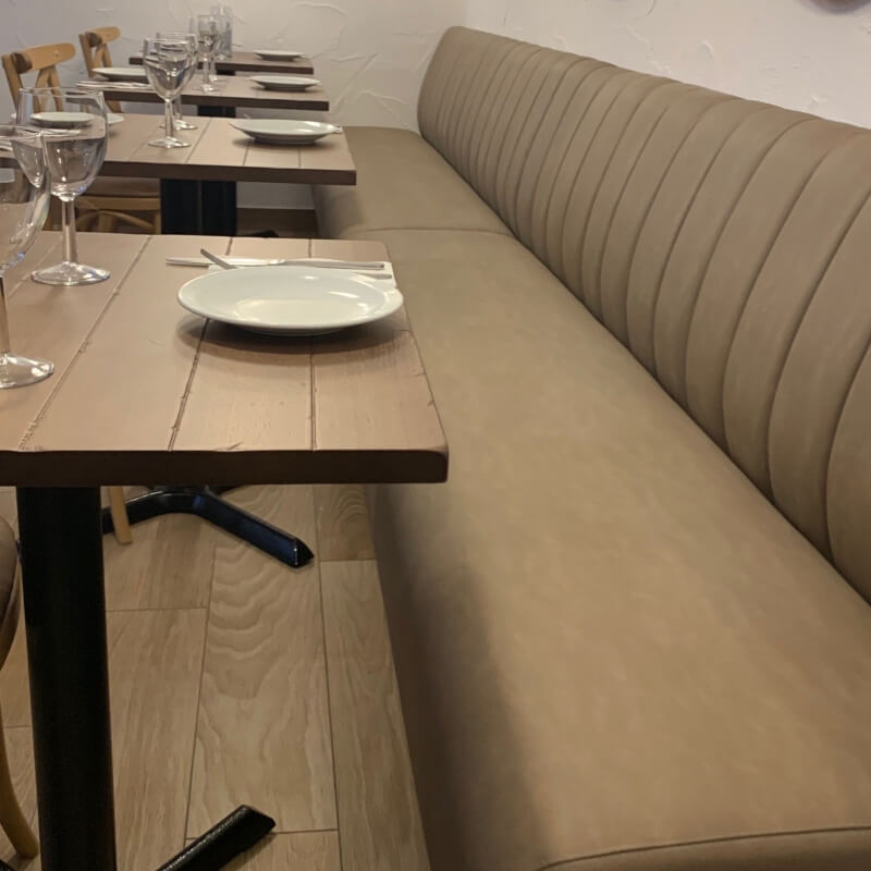 Fluted Back Fixed Bench Seating
