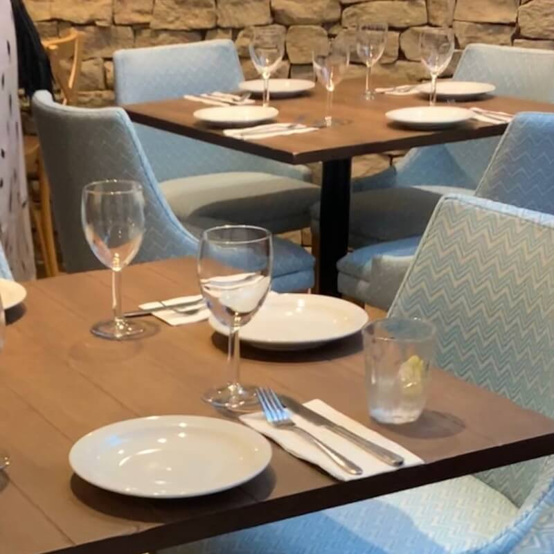 Restaurant Dining Chairs and Tables
