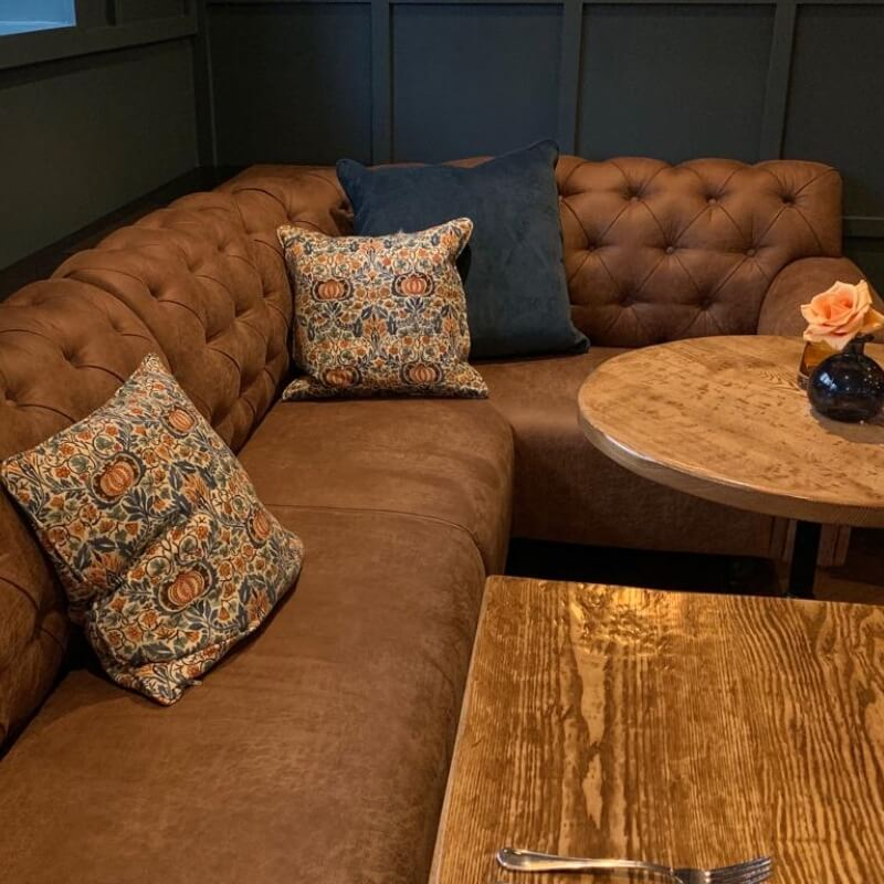 Chesterfield Style Corner Seating