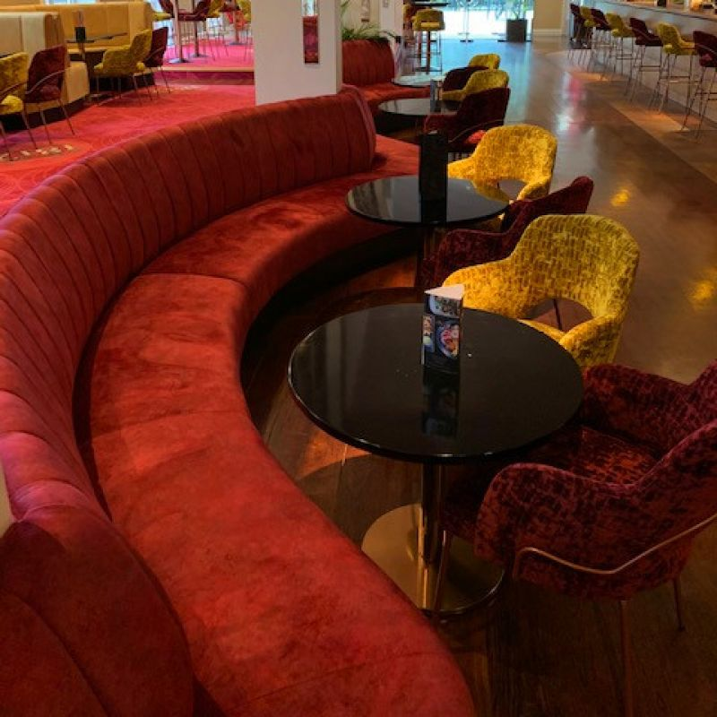 Curved Fluted Unit Seating