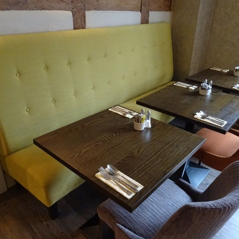 Float Button Back Banquette Seating