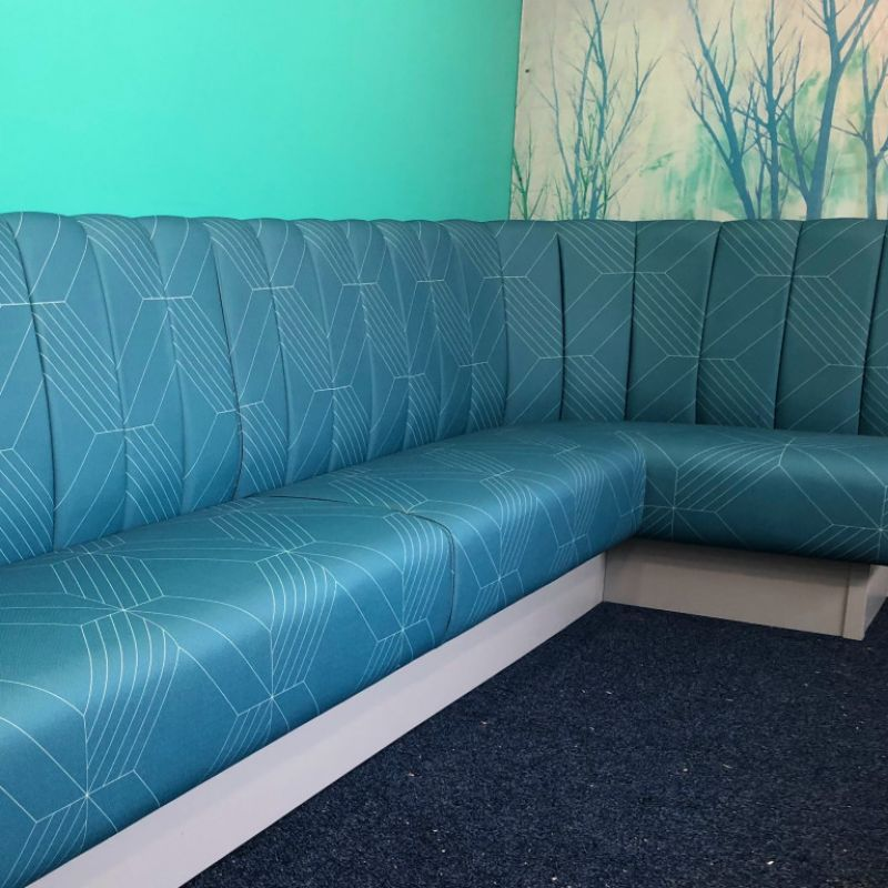 Fluted Banquette Bench Seating