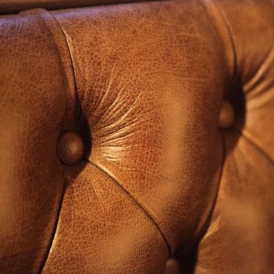 Close Up of Leather Bench Seating